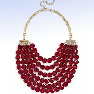 BaubleBar Red Beaded 'NOEL' Multi-Strand Necklace
